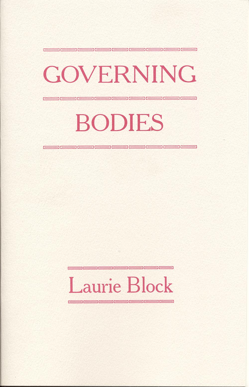 Governing Bodies by Laurie Block
